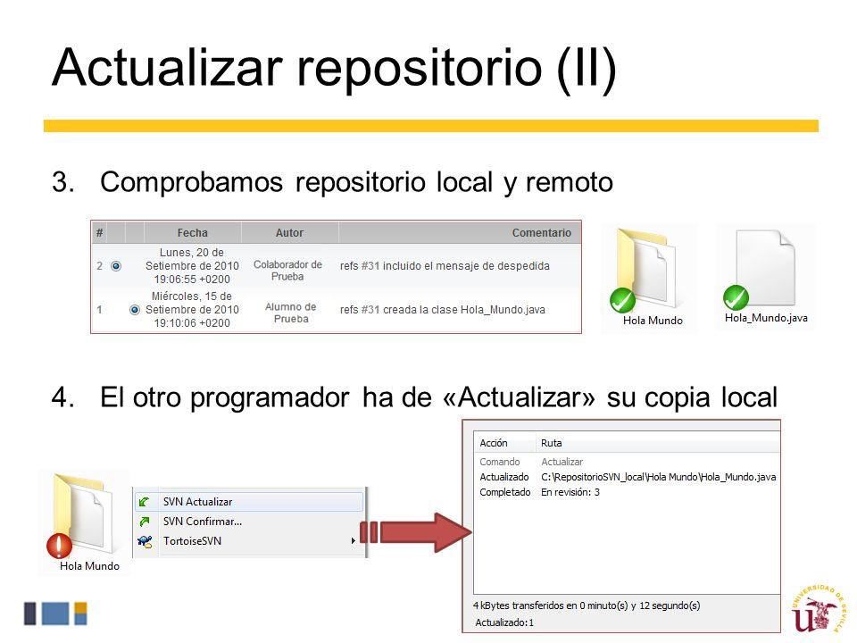 Actualizar repositorio (II)