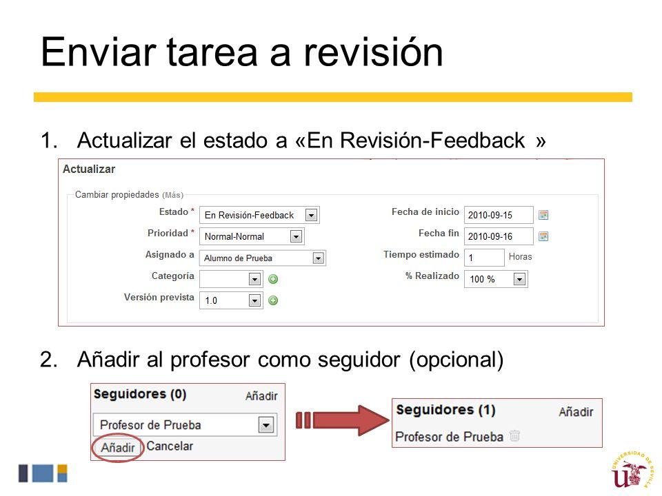 Enviar tarea a revisión