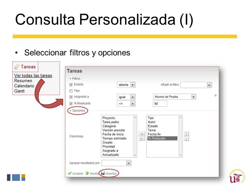 Consulta Personalizada (I)