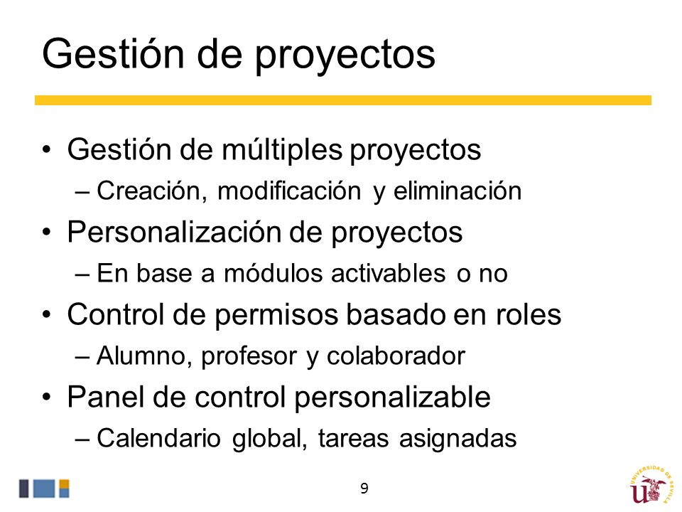 Gestión de proyectos Gestión de múltiples proyectos