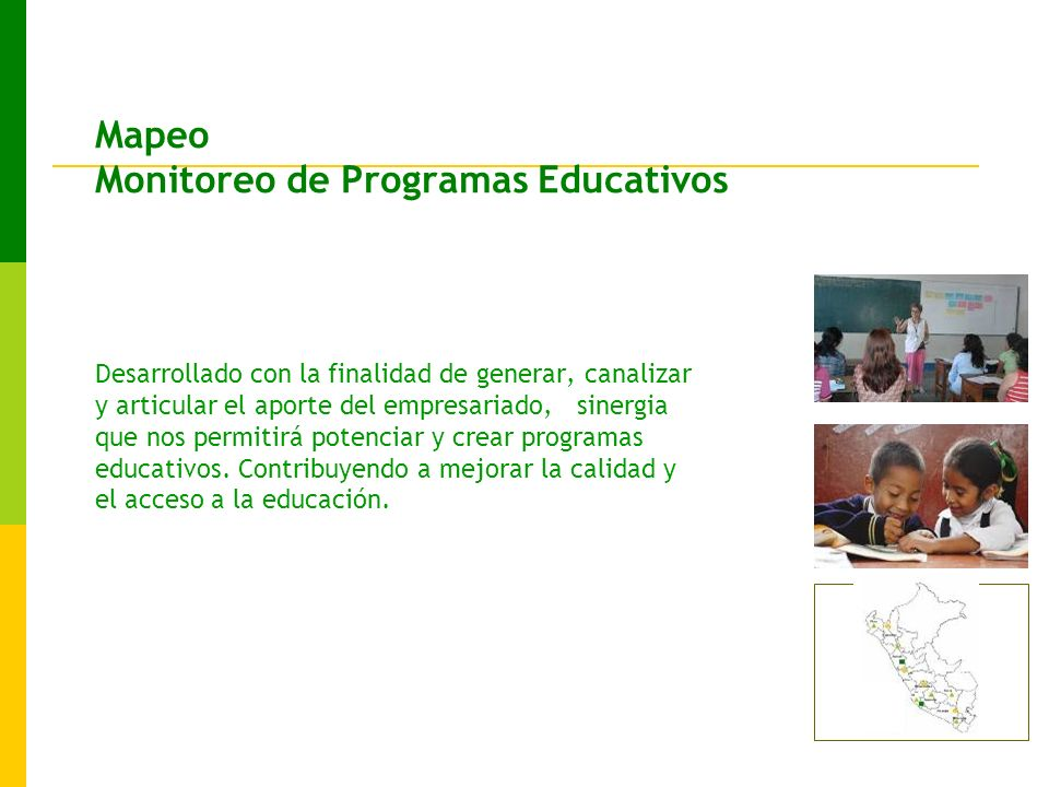 Mapeo Monitoreo de Programas Educativos