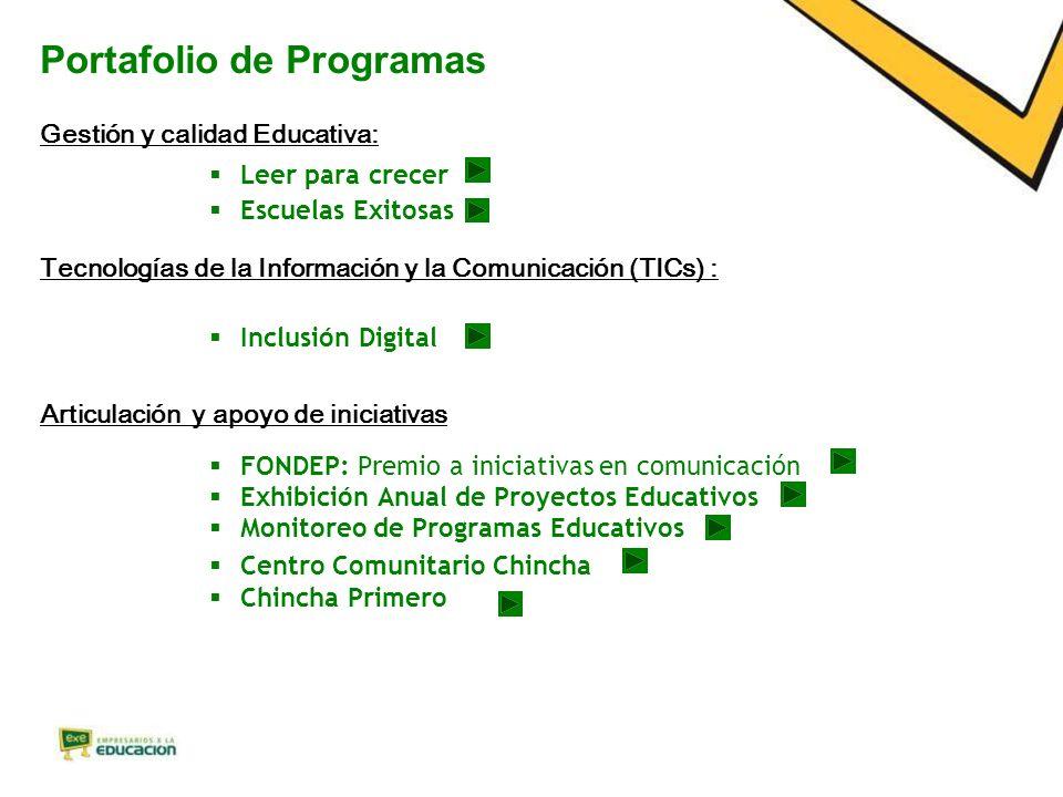 Portafolio de Programas