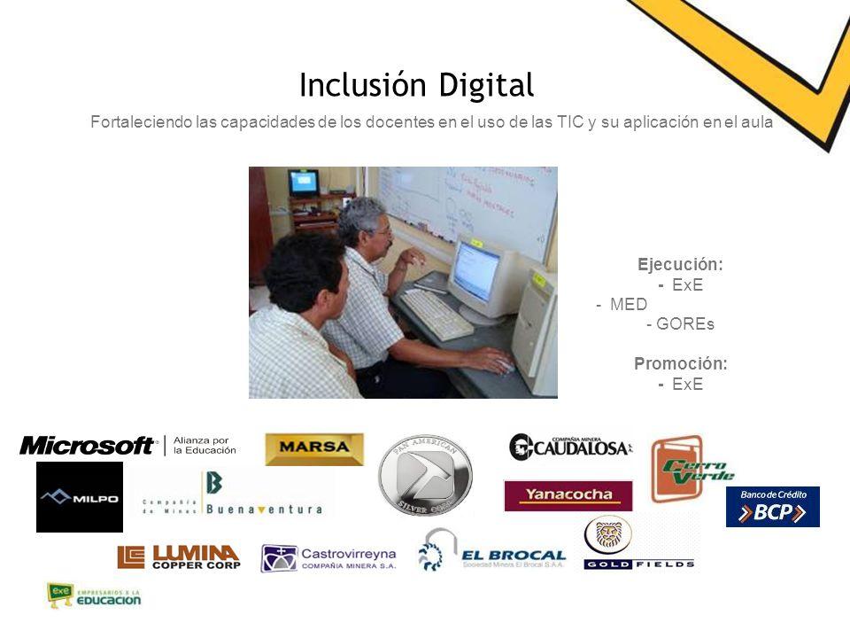 Inclusión Digital Fortaleciendo las capacidades de los docentes en el uso de las TIC y su aplicación en el aula.