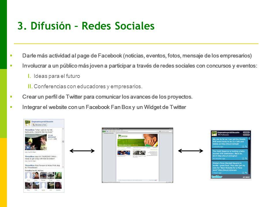 3. Difusión – Redes Sociales