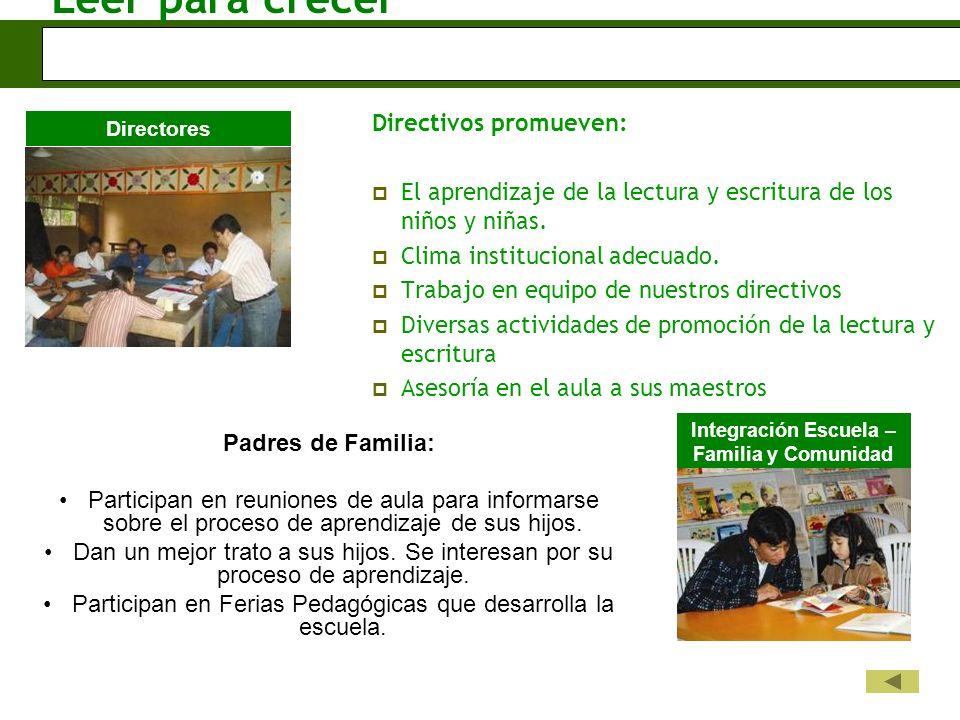 Integración Escuela – Familia y Comunidad