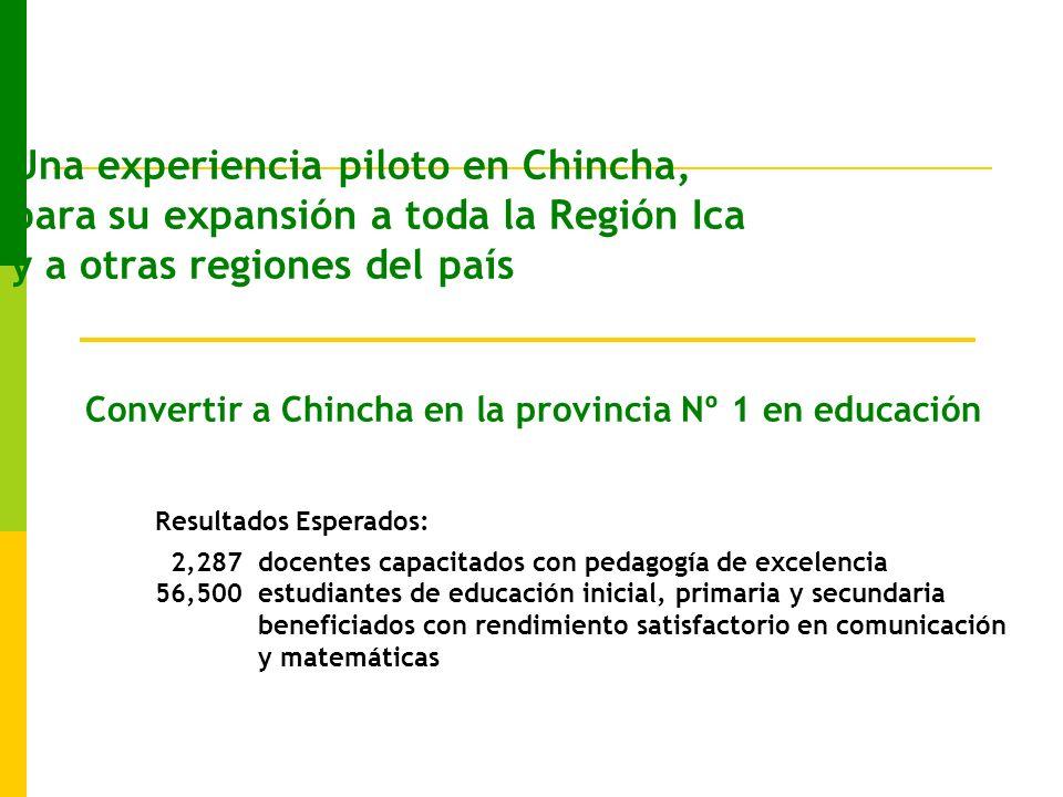 Convertir a Chincha en la provincia Nº 1 en educación