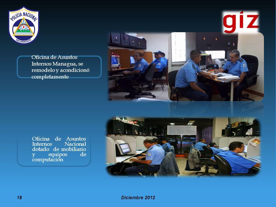 Oficina de Asuntos Internos Managua, se remodelo y acondicionó completamente