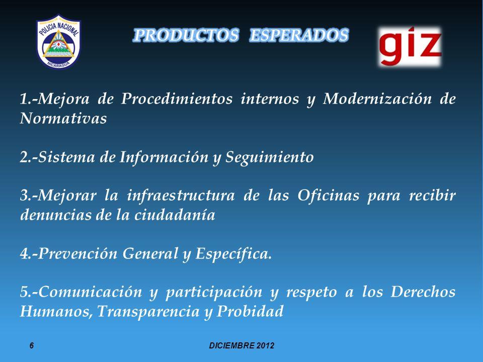 1.-Mejora de Procedimientos internos y Modernización de Normativas