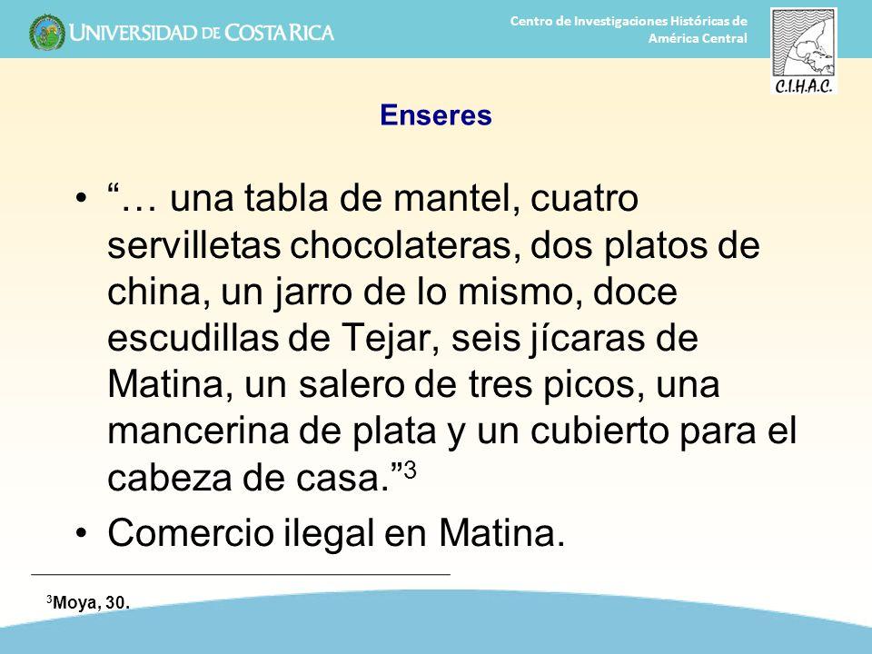 Comercio ilegal en Matina.