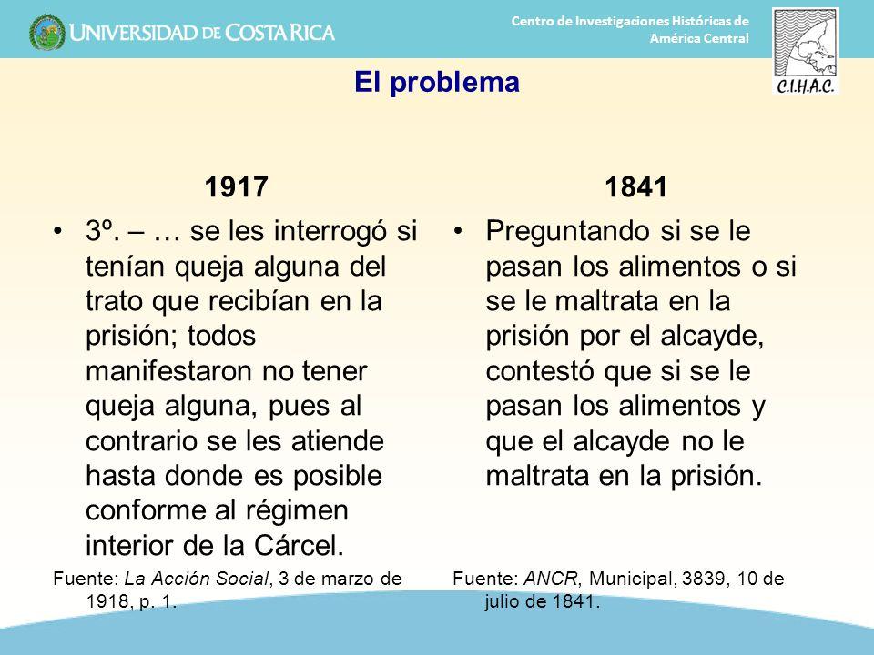 El problema 1917. 1841.
