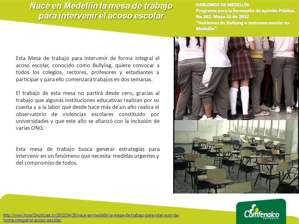 Nace en Medellín la mesa de trabajo para intervenir el acoso escolar