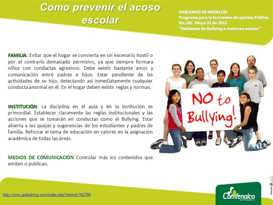 Como prevenir el acoso escolar