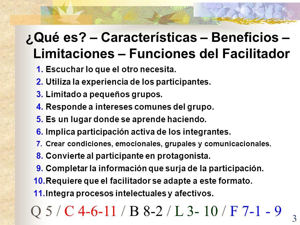 ¿Qué es – Características – Beneficios – Limitaciones – Funciones del Facilitador