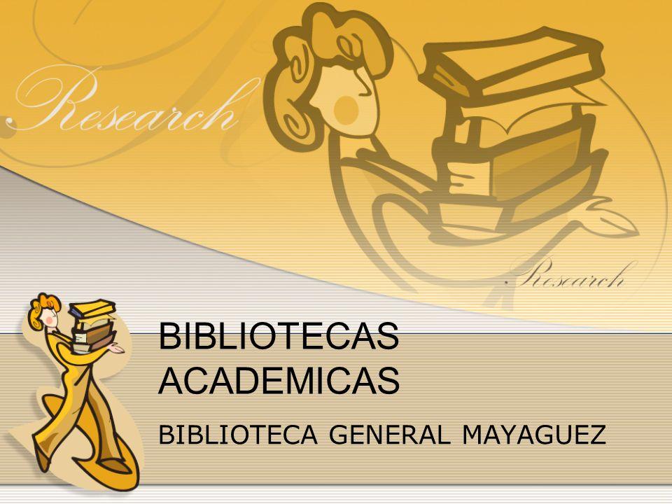 BIBLIOTECAS ACADEMICAS