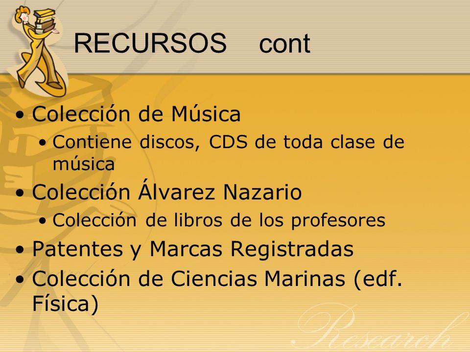 RECURSOS cont Colección de Música Colección Álvarez Nazario