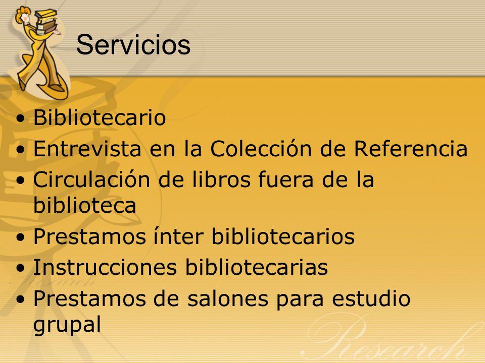 Servicios Bibliotecario Entrevista en la Colección de Referencia
