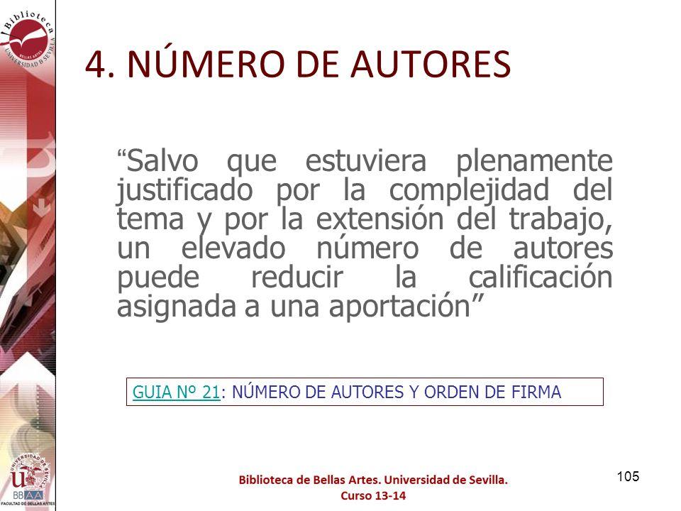 4. NÚMERO DE AUTORES