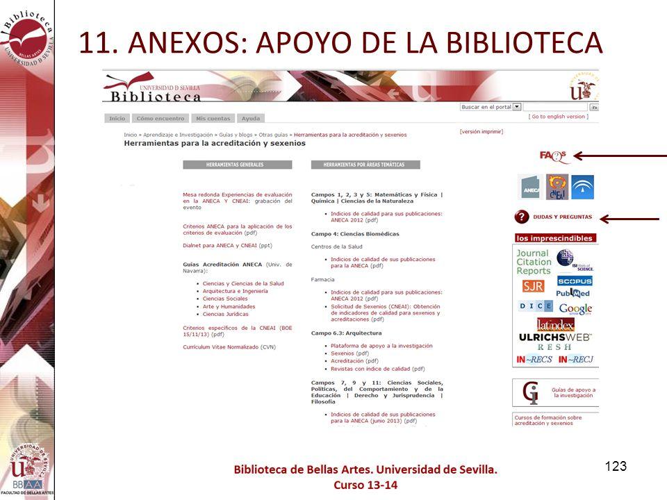 11. ANEXOS: APOYO DE LA BIBLIOTECA