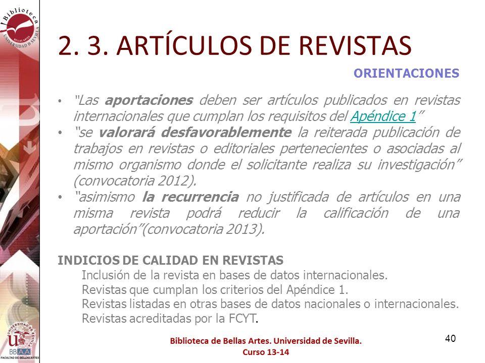 2. 3. ARTÍCULOS DE REVISTAS ORIENTACIONES.
