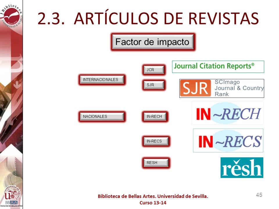 Factor de impacto Búsqueda de Factor de Impacto e indicios de calidad