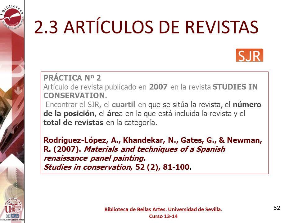 2.3 ARTÍCULOS DE REVISTAS PRÁCTICA Nº 2