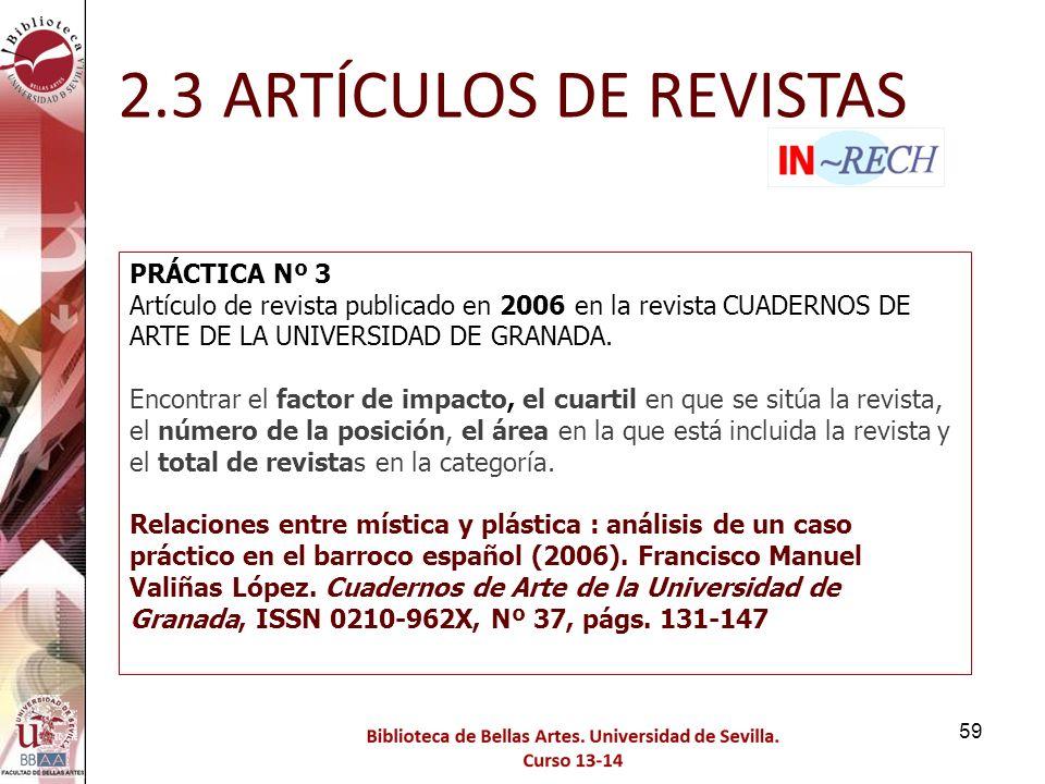 2.3 ARTÍCULOS DE REVISTAS PRÁCTICA Nº 3
