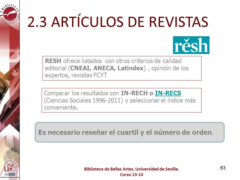 2.3 ARTÍCULOS DE REVISTAS