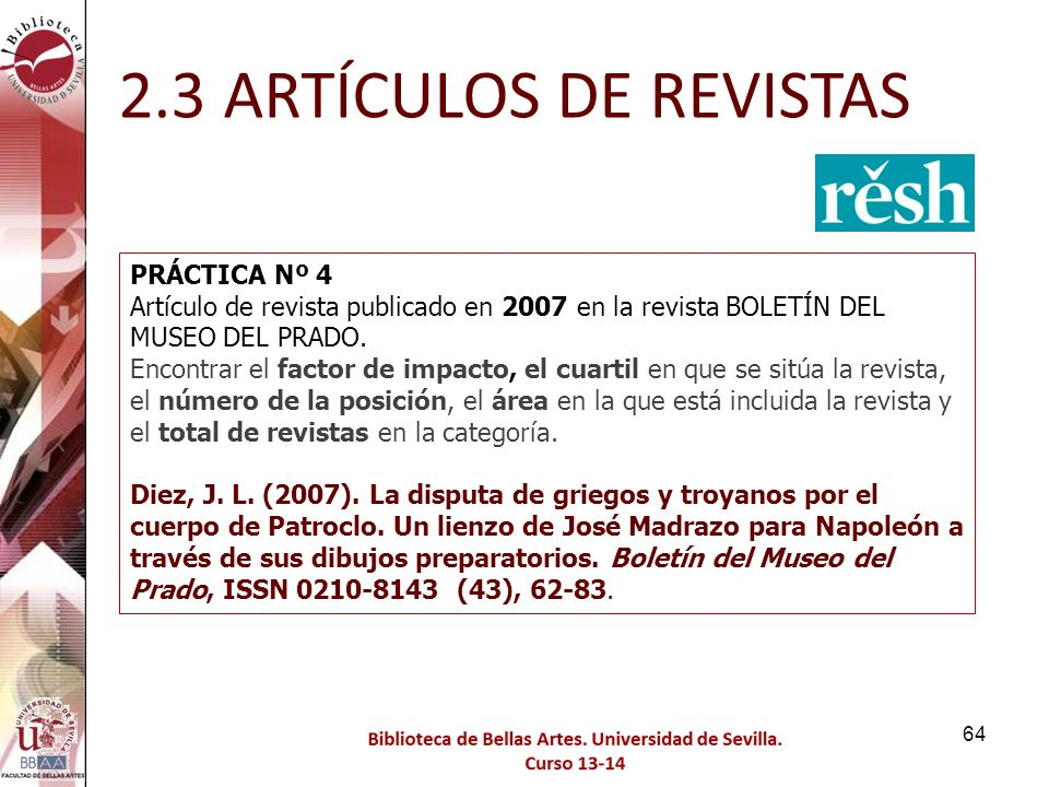 2.3 ARTÍCULOS DE REVISTAS PRÁCTICA Nº 4