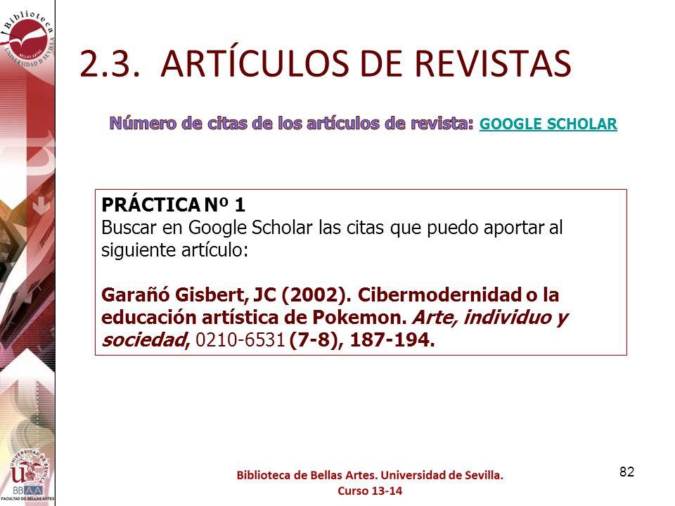 2.3. ARTÍCULOS DE REVISTAS PRÁCTICA Nº 1