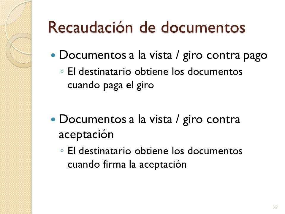 Recaudación de documentos