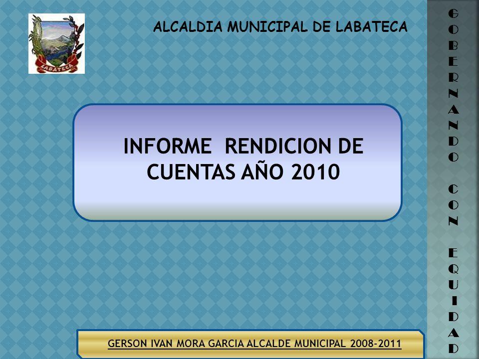 INFORME RENDICION DE CUENTAS AÑO 2010