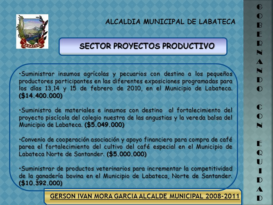SECTOR PROYECTOS PRODUCTIVO