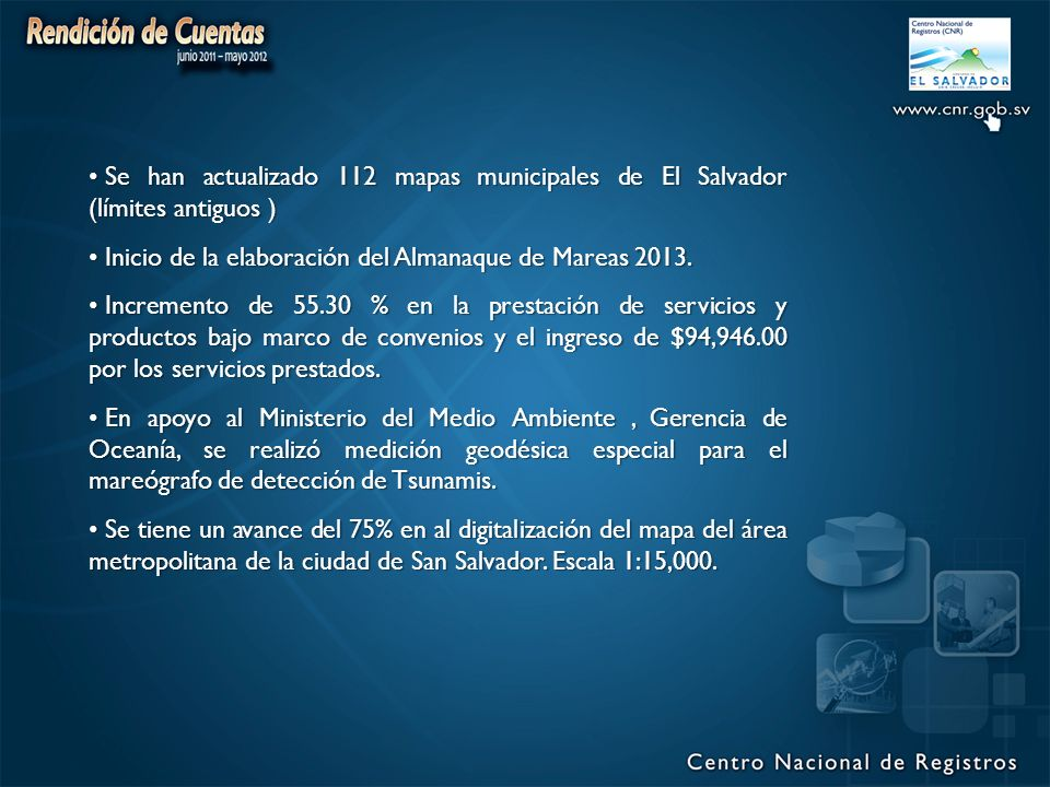 Se han actualizado 112 mapas municipales de El Salvador (límites antiguos )