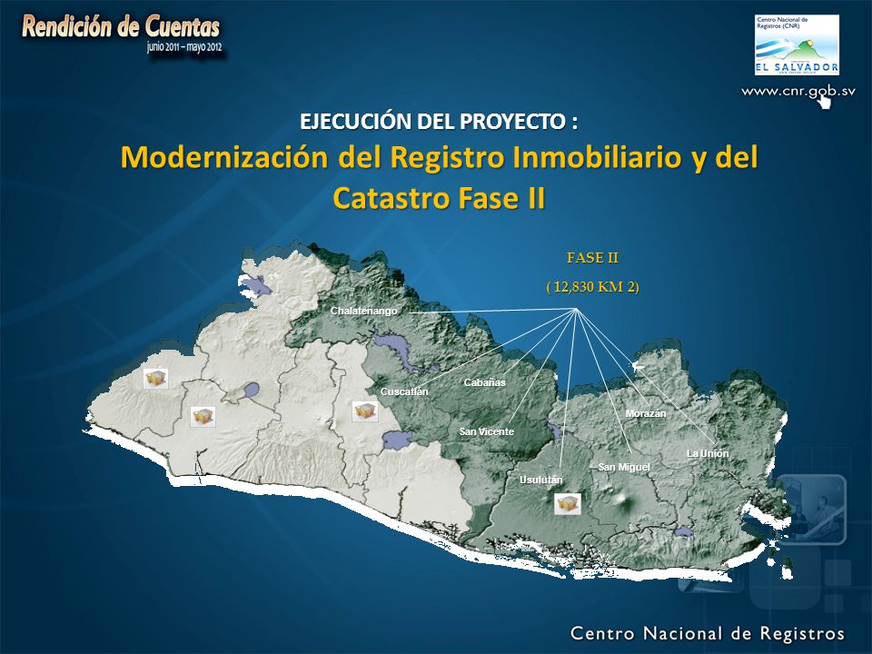 EJECUCIÓN DEL PROYECTO : Modernización del Registro Inmobiliario y del