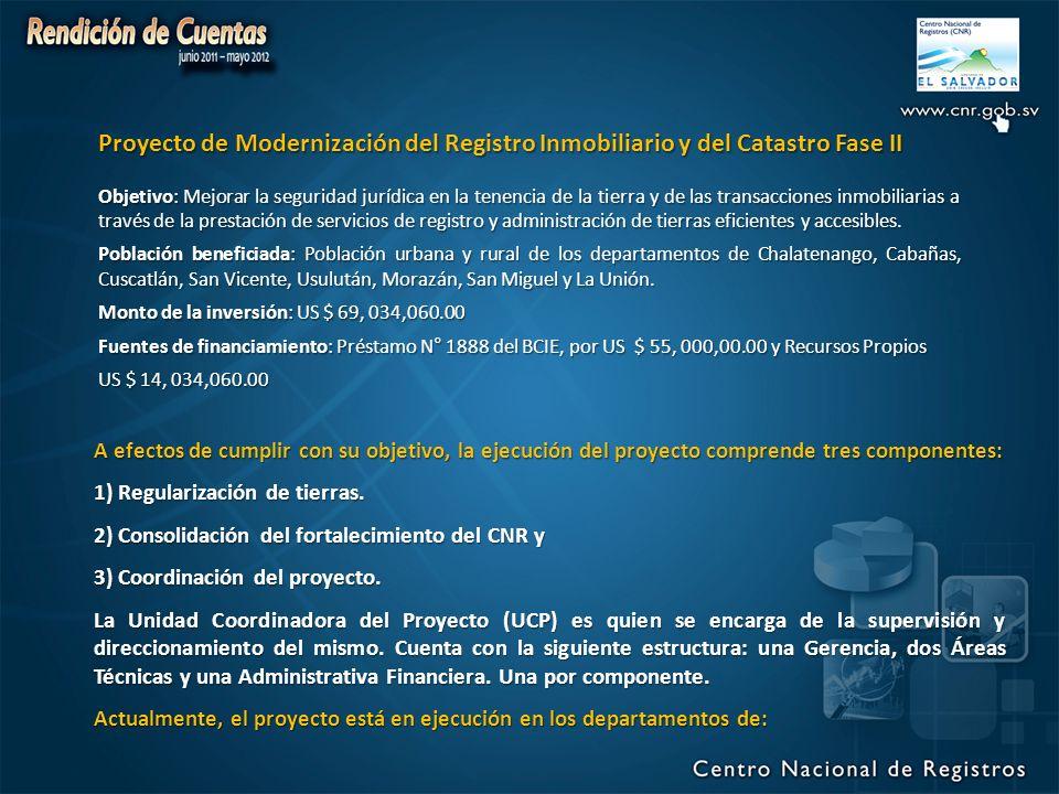 Proyecto de Modernización del Registro Inmobiliario y del Catastro Fase II