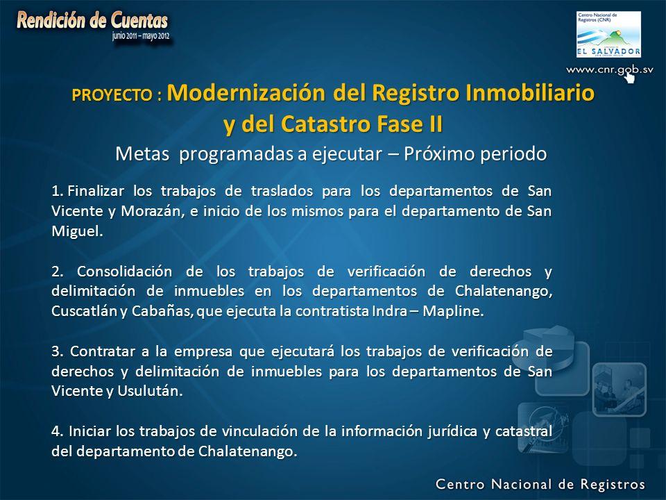 PROYECTO : Modernización del Registro Inmobiliario