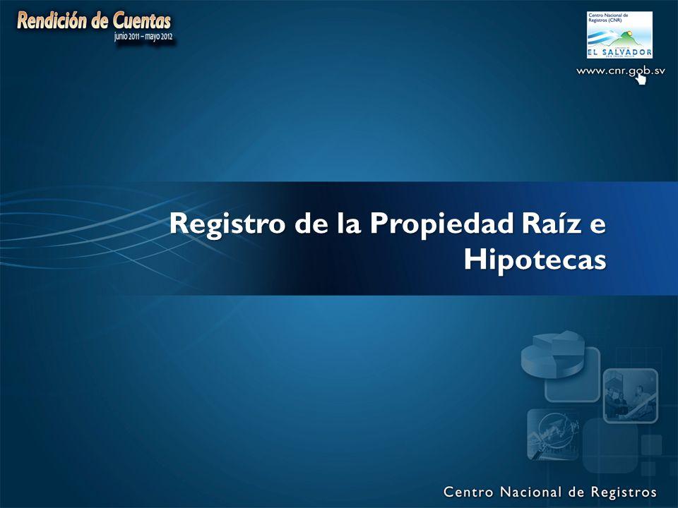 Registro de la Propiedad Raíz e Hipotecas