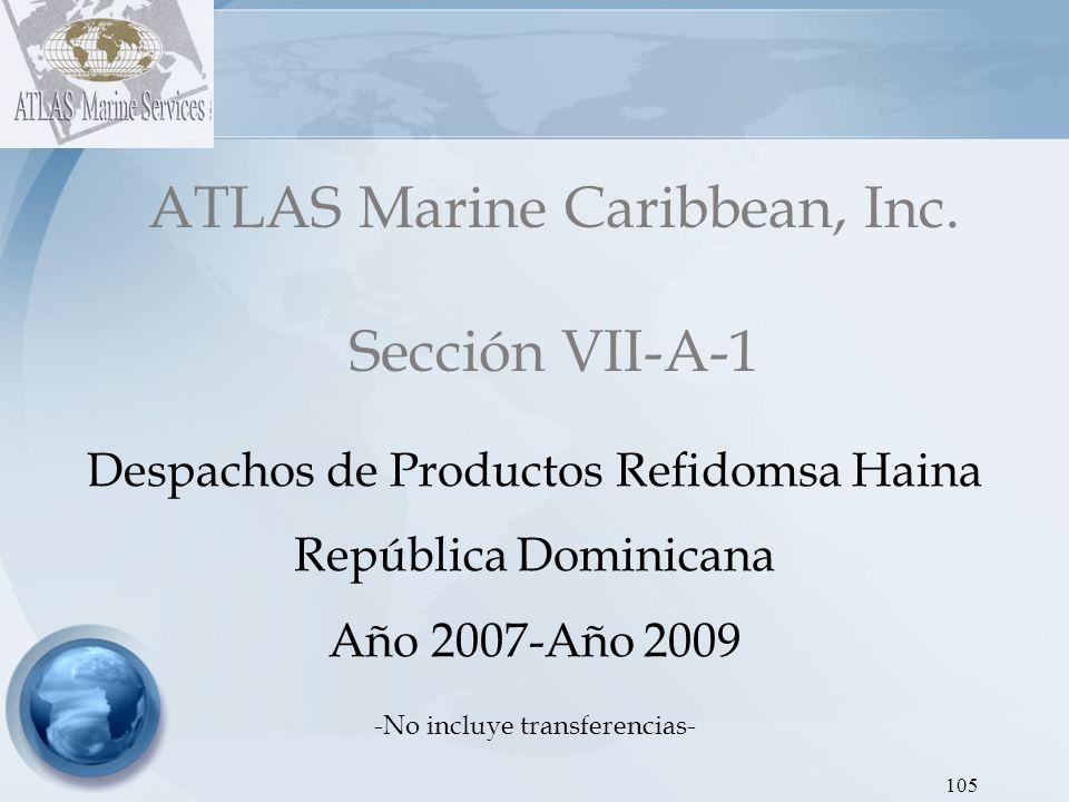 ATLAS Marine Caribbean, Inc. Sección VII-A-1