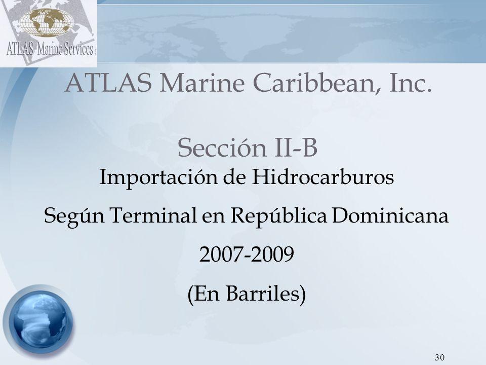 ATLAS Marine Caribbean, Inc. Sección II-B