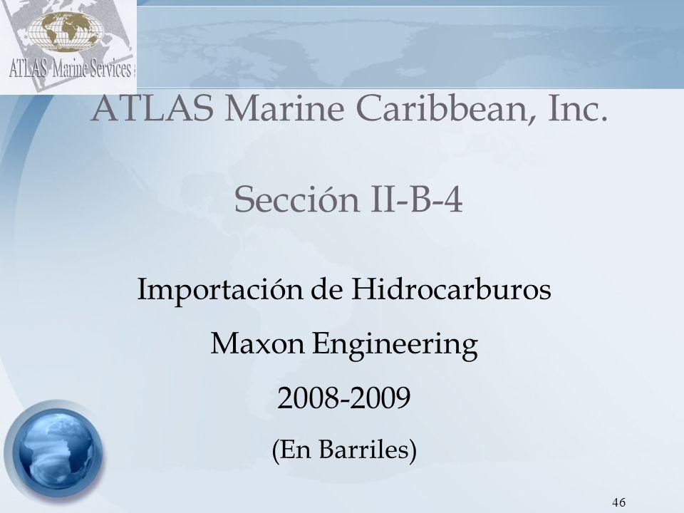 ATLAS Marine Caribbean, Inc. Sección II-B-4