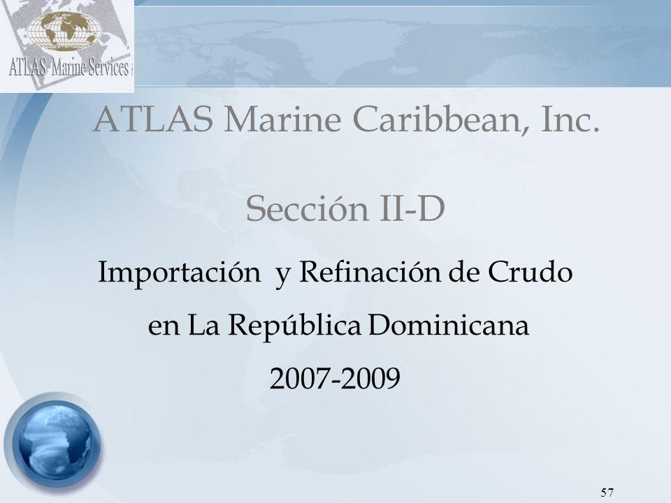 ATLAS Marine Caribbean, Inc. Sección II-D