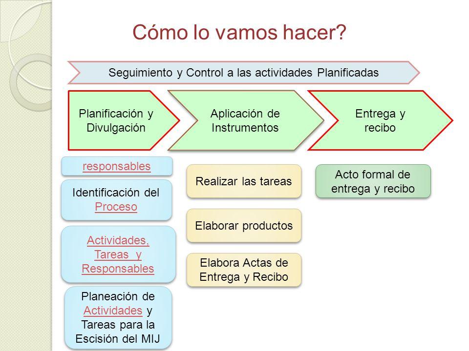 Cómo lo vamos hacer Planificación y Divulgación