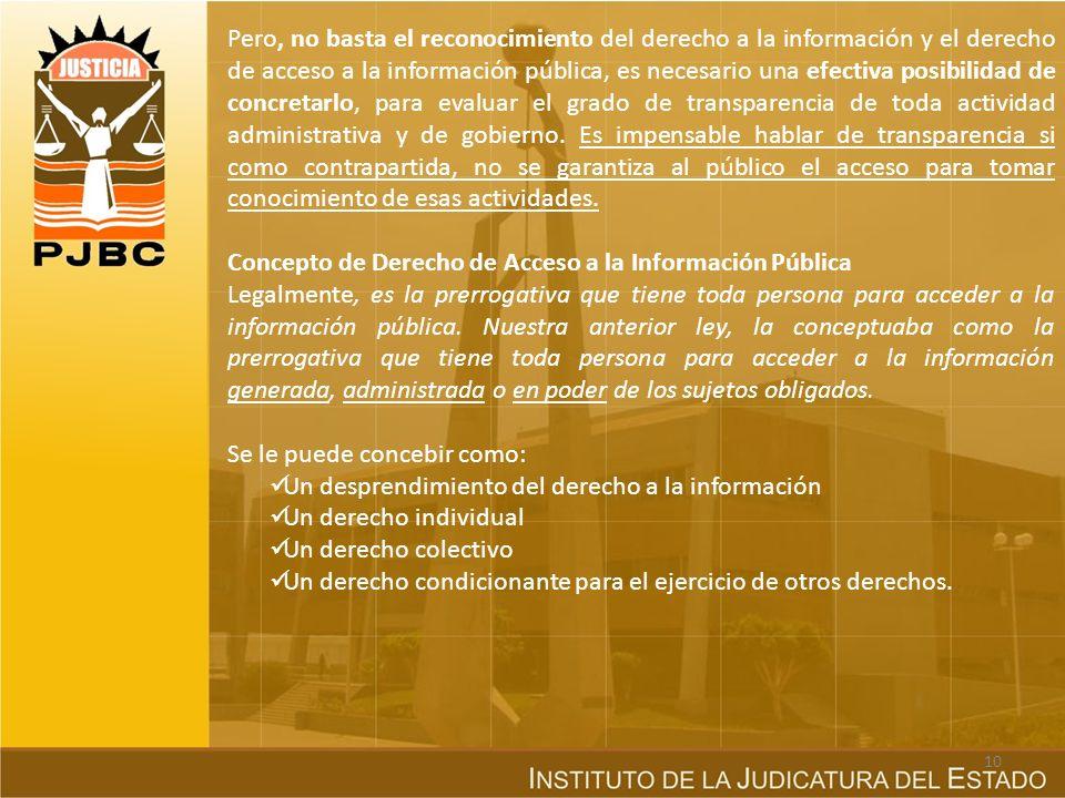 Concepto de Derecho de Acceso a la Información Pública