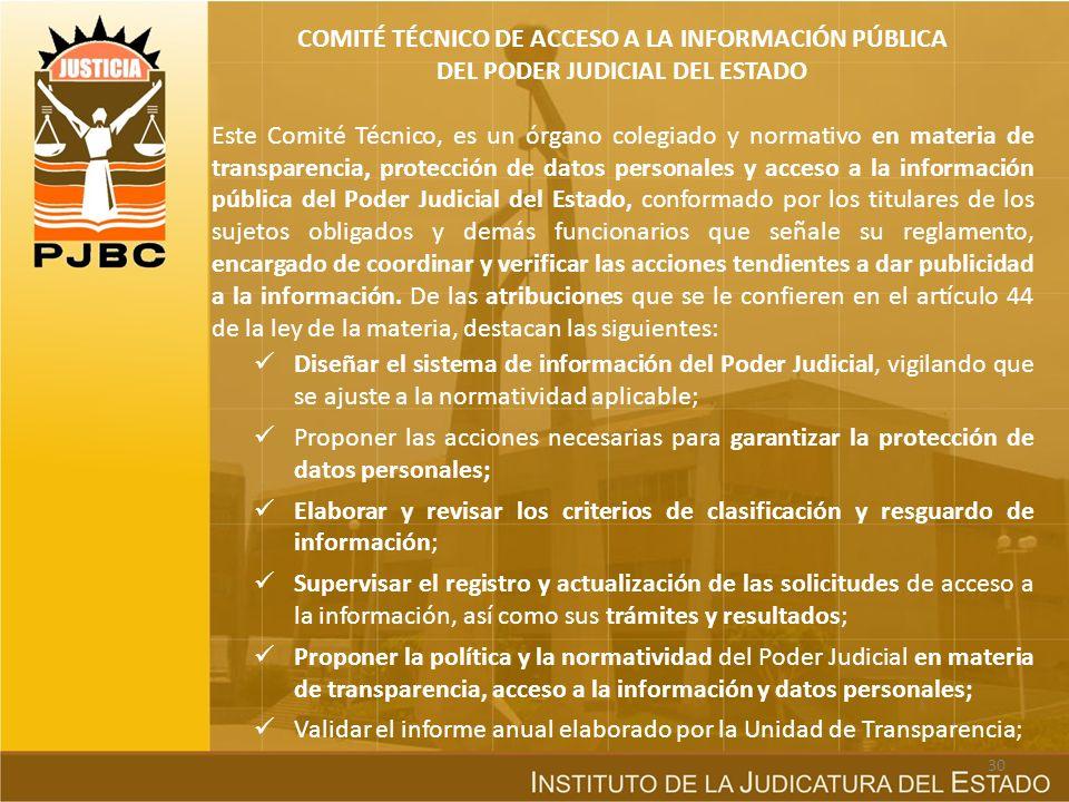 COMITÉ TÉCNICO DE ACCESO A LA INFORMACIÓN PÚBLICA