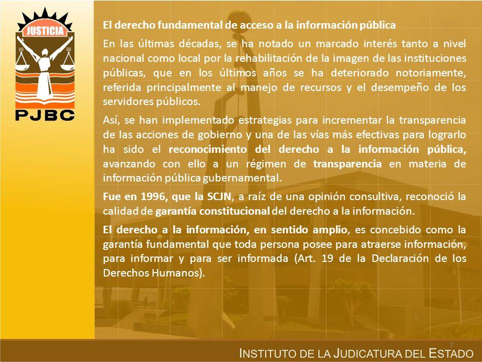 El derecho fundamental de acceso a la información pública