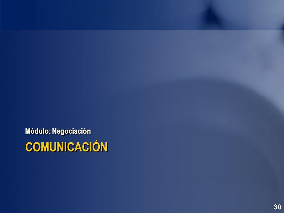 Módulo: Negociación COMUNICACIÓN