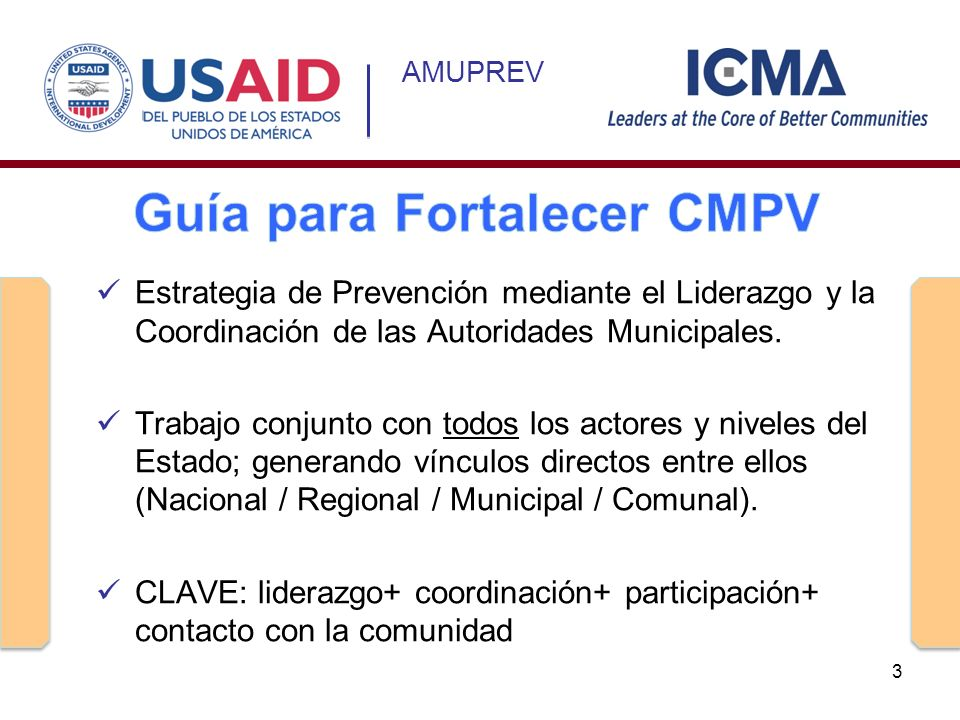 Guía para Fortalecer CMPV
