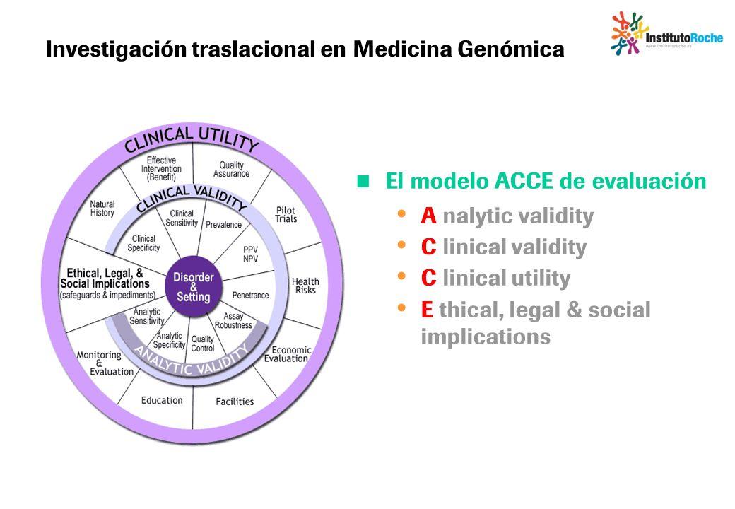 Investigación traslacional en Medicina Genómica