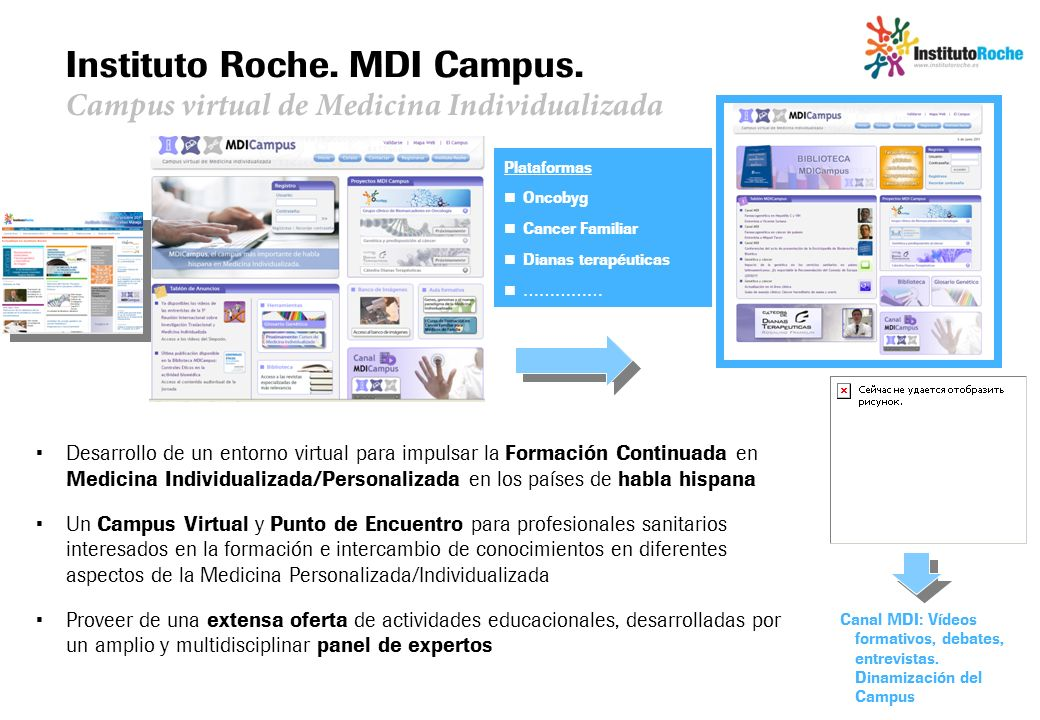 Instituto Roche. MDI Campus. Campus virtual de Medicina Individualizada