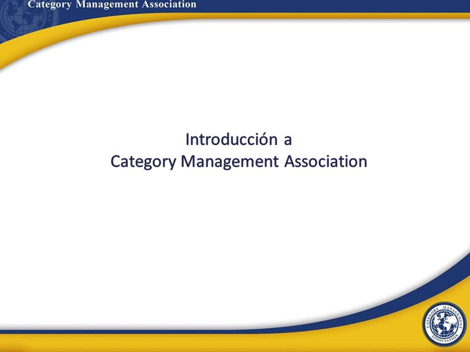 Introducción a Category Management Association